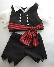 BABW Build-A-Bear Workshop 2 Piece Pirate Costume Outfit Plush Animal Clothes