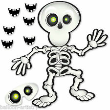 14 Piece Haunted Halloween Smile On The Skeleton Children's Party Game Set