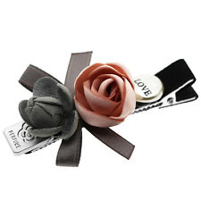 Two Roses Grey & Pink Love Diamante Baby Girl Slide Hair Clip Accessories HA294