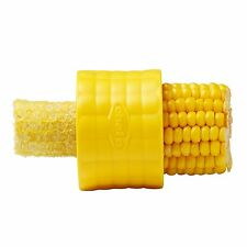 Chef'n Cob Corn Stripper peeler Cutter With Steel Blade, Yellow