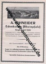 Schneider Weinbau Edenkoben Rheinpfalz Wein Große Reklame 1926 advertising