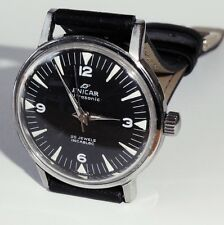 Men's Vintage Enicar Ultrasonic 17 Jewels St. Steel Swiss Watch c1950's.
