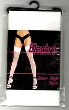 Electric Lingerie sheer thigh highs Stockings Weiss .. Unisize