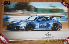 2014 Alex Job Racing #23 Porsche 911 GT America GTD signed Sebring TUSC poster