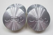 NEW 2005-2016 JEEP GRAND CHEROKEE 55mm MACHINED SILVER CENTER CAPS 52090402AA