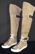 "NINE WEST ""ABU"" SNEAKER SHEARLING TOP OVER THE KNEE /KNEE HIGH WOMEN BOOTS  9"