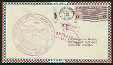 1931 FIRST FLIGHT AIR MAIL ROUTE AM 19 - FLORENCE, SC - C12 FRANKING (ESP#1445)