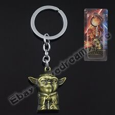 "Star Wars Yoda 12cm/4.8"" Pendant Metal Key Ring New In Box Golden Wholesale"
