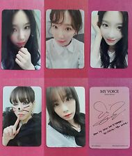 LOT of 5 TAEYEON Official PHOTOCARD MY VOICE DELUXE 1st Album Full Set SNSD 태연