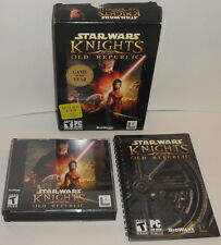 PC CD-ROM STAR WARS KNIGHTS OF THE OLD REPUBLIC VIDEO GAME Bioware 2003 2004