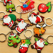 Wholesale Mixed Christmas Cute Cartoon Soft Rubber Keychain Keyring Child Gift