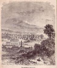 FRANCE vue générale de Bar-le-Duc gravure ancienne 1880 / GF19