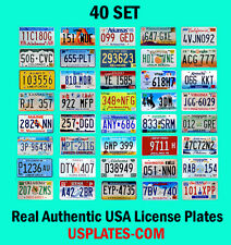 40 USA LICENSE PLATES SET UNITED STATES NUMBER TAG LOT REAL BEST QUALITY US 555