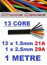 13 CORE AUTO CABLE 1.5mm 21 AMP CAR WIRE 1 METRE MULTICORE THINWALL 1.5MM  1M