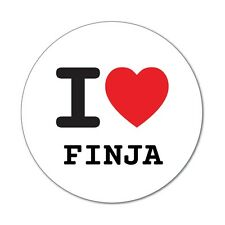 I love FINJA - Aufkleber Sticker Decal - 6cm