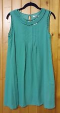 Modcloth Ya Los Angeles Cocktails at the Cottage Green Dress Sz S Pintucks NWT