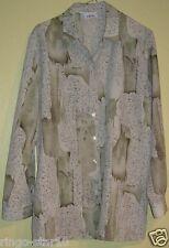 46 ) Elegante Damen Bluse mit verschiedenen grün Töne Gr. 46 von der Firma Ch!cc