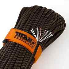 TITAN Survivor Cord Rope Paracord Parachute 100 Ft Military 550 Fishing Camping