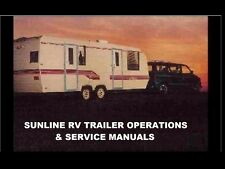 SUNLINE RV TRAILER CAMPER OPERATION MANUALs 430pgs w/ FRIG STOVE & AC Service