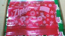 200 Ziploc Quart Size Storage Slider Bags Limited Edition New Red Tinted Holiday