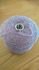 Lambs wool And Linen  Lilac Mix 850 Gram Cone.Hand/machine Knit. Craft/crochet.
