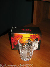 Fireball Whiskey Shot Glass Hot Cinnamon Liquor Etched Bar Letter E Mancave New