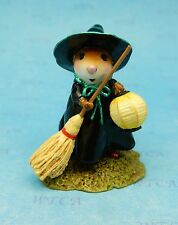 LITTLE WITCH WITH LANTERN by Wee Forest Folk, WFF# M-583 - New Witch Mouse 2016