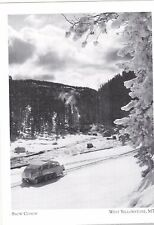 """The Snow Coach"" /Along Lewis River/ *W Yellowstone MT 'Postcard' (#273)"