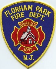 FLORHAM PARK NEW JERSEY NJ FIRE PATCH