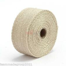 "HIGH HEAT 2"" FIBERGLASS 2000 EXHAUST HEADER PIPE TAPE WRAP INSULATION CLOTH 5M"
