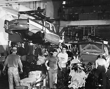 1956 Studebaker Assembly Line Body Dropping to Chassi  8 x 10  Photograph