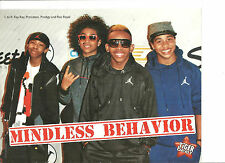 Mindless Behavior, Kendall Schmidt, Big Time Rush, Double Sided Full Page Pinup