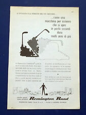 A676-Advertising Pubblicità-1960-REMINGTON - MACCHINE DA SCRIVERE
