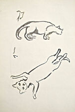Dorothy Eaton Drawing (XXXII) Cats