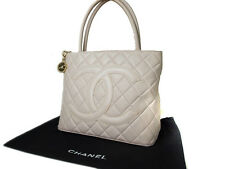 Authentic CHANEL Medallion Light Pink Leather Tote Bag CS11395L