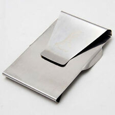 Practical 1x Slim Money Clip Double Sided Cash Credit Wallet Stainless 2016