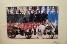 MOUNTED LONDON PHOTOS - HORSE GUARDS - SIGNED BY PHOTOGRAPHER JULIAN ANDREWS