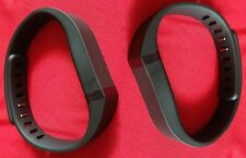 2 LARGE BLACK BANDS & CLASPS -NO TRACKER FOR FITBIT FLEX BAND BRACELET WRISTBAND