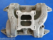 "VINTAGE WEIAND MOPAR 361 383 400 ALUMNIUM INTAKE MANIFOLD 7501 ""SAY WHY AND"""