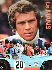 Imprimer sport annonce Le Mans Endurance 24 heures course automobile nofl1050 Steve McQueen