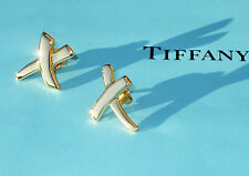 Tiffany & Co 18Ct 18K Gold Picasso KISS Small Earrings