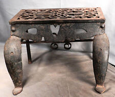 Antique Early American Pennsylvania Wrought Cast Iron Footman Kettle Stand