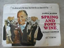 Spring and Port Wine 1970 UK Quad Movie Poster Original 30 x 40 Susan George