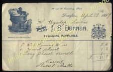 1897 DUMFRIES  Attractive IRONMONGERS billhead J.S.Donnan, Queensberry St.