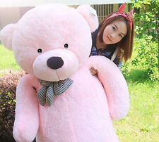 "Hot GIANT CUTE PINK PLUSH TEDDY BEAR HUGE SOFT 100% COTTON TOY 31"" NEW SWEET"