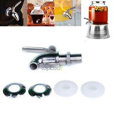 """Stainless Steel Beverage Dispenser Replacement Faucet Spigot Fits 5/8"""" Opening"""