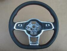 USED OEM 2015 2016 Volkswagen VW GTI Black Leather Steering Wheel Red Stitch