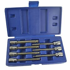 "Long Ball Ended Hex Allen Key Socket Bit Set 3/8"" Drive 3mm - 10mm BERGEN AT641"