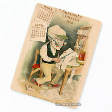 Antikamnia 1900 Calendar #2 Deco Magnet, Antique Illustration Skeleton Fridge