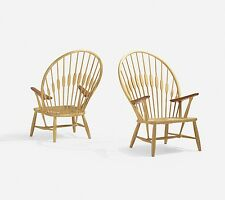Pair Of Hans Wegner Peacock Chairs By Johannes Hansen made in Denmark 1960s